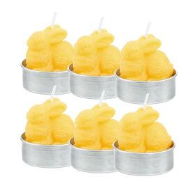 FLAMBEAU Teelicht Hase 6 Stk., gelb