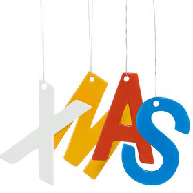 HANG ON Glasbuchstaben XMAS 25cm