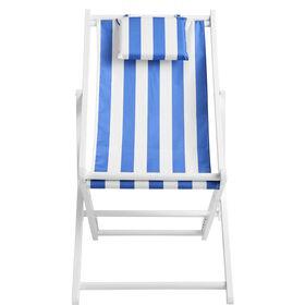 MIAMI Strandstuhl blau/weiß gestreift