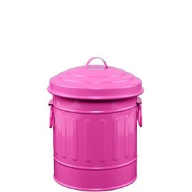 ZINC Zinkmülleimer 12 cm pink