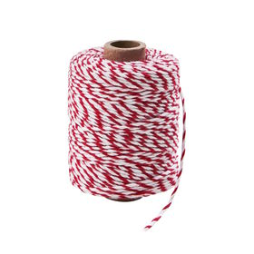 COTTON TWIST Kordel 50 Meter rot/weiß