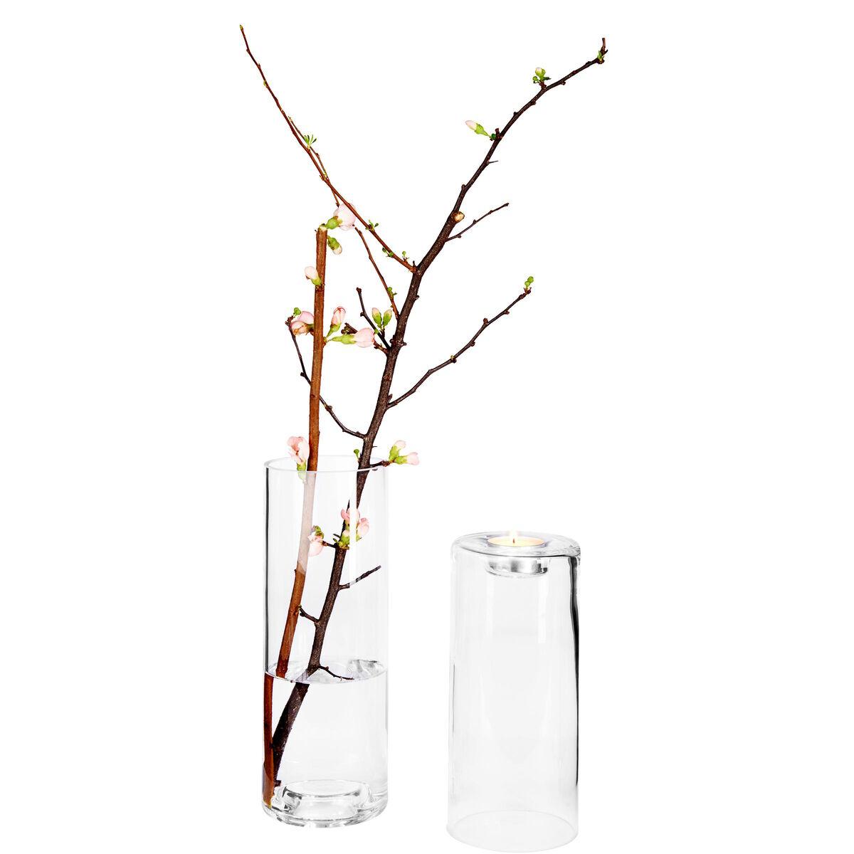 DUO Teelichthalter/Vase 20cm