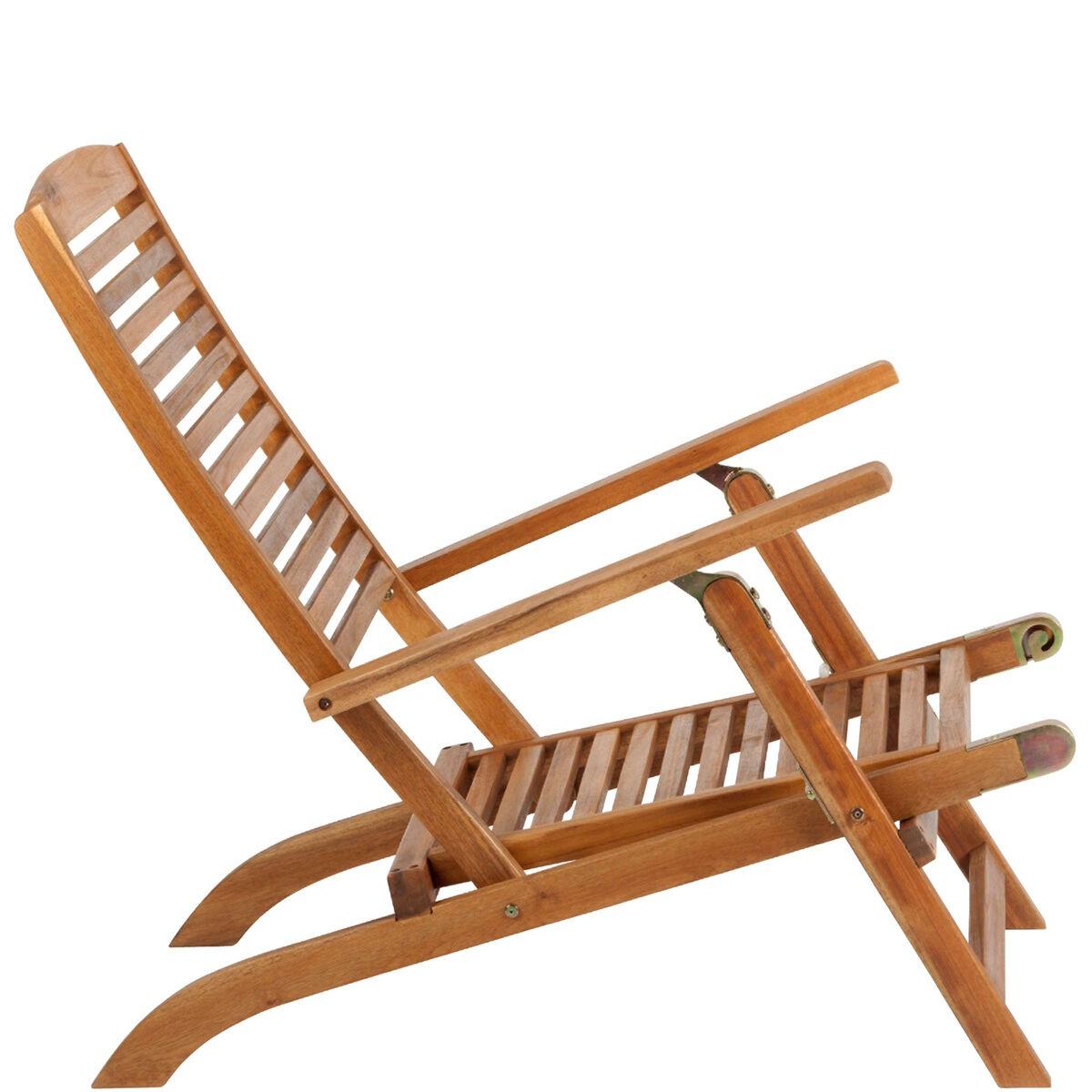 WEEKENDER Liegestuhl mit Fußteil