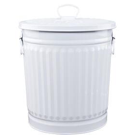 ZINC Zinkmülleimer  30 cm weiß