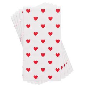 HEARTS Taschentücher Herzen weiß