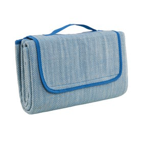 GET TOGETHER Picknickdecke blau-weiß