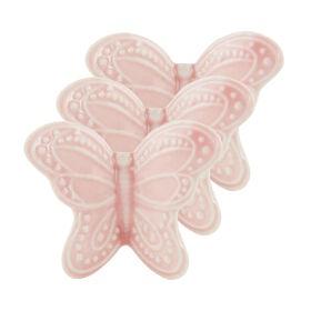 BUTTERFLY Schmetterling 3er Set 4cm,rosa