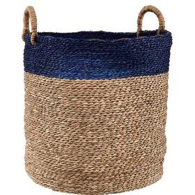 BASIC BRAID Korb natur/blau, 45 cm