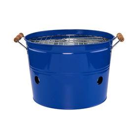 BBQ Grilleimer rund blau