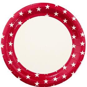 STARS Pappteller 10 Stück Stern rot klei