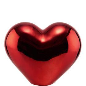 LOVE Deko Herz aus Keramik 15cm, rot