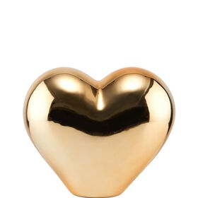 LOVE Deko Herz aus Keramik 12cm, gold