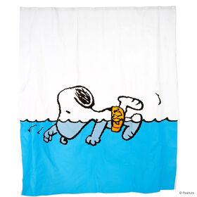 PEANUTS Duschvorhang Snoopy schwimmend