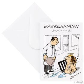 LORIOT Mini-Klappkarte Wassermann mit Um
