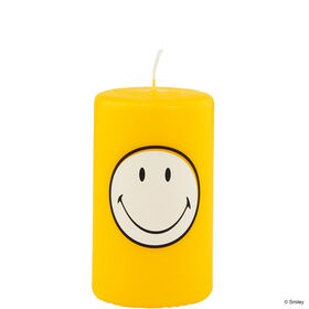 SMILEY Kerze gelb