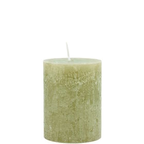 RUSTIC Kerze 6,8x9cm olive 45h