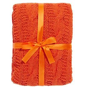 BRAID Zopfmuster Decke orange