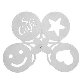 MENUETT Cappuccino Schablonen 4er Set