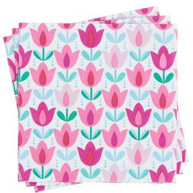 APRÈS Papierserviette Tulpe lila