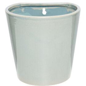 GLAZE Hängetopf grau/blau, 16cm