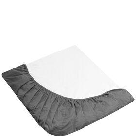 EMMA Spannbetttuch 140x200 cm grau weiß