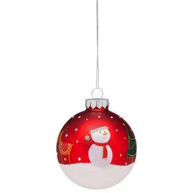 """HANG ON Glaskugel 8cm """"Weihnachten"""" rot"""