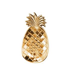 PINEAPPLE Deko Schale 25cm gold