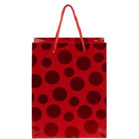 X-MAS Geschenktüte Punkte rot, klein