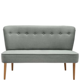 COZY TIME Sofabank, stone washed grau