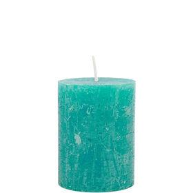 RUSTIC Kerze 6,8x9cm azurgrün