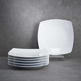 "PURO Frühstücksteller ""quadratisch"", 6St"