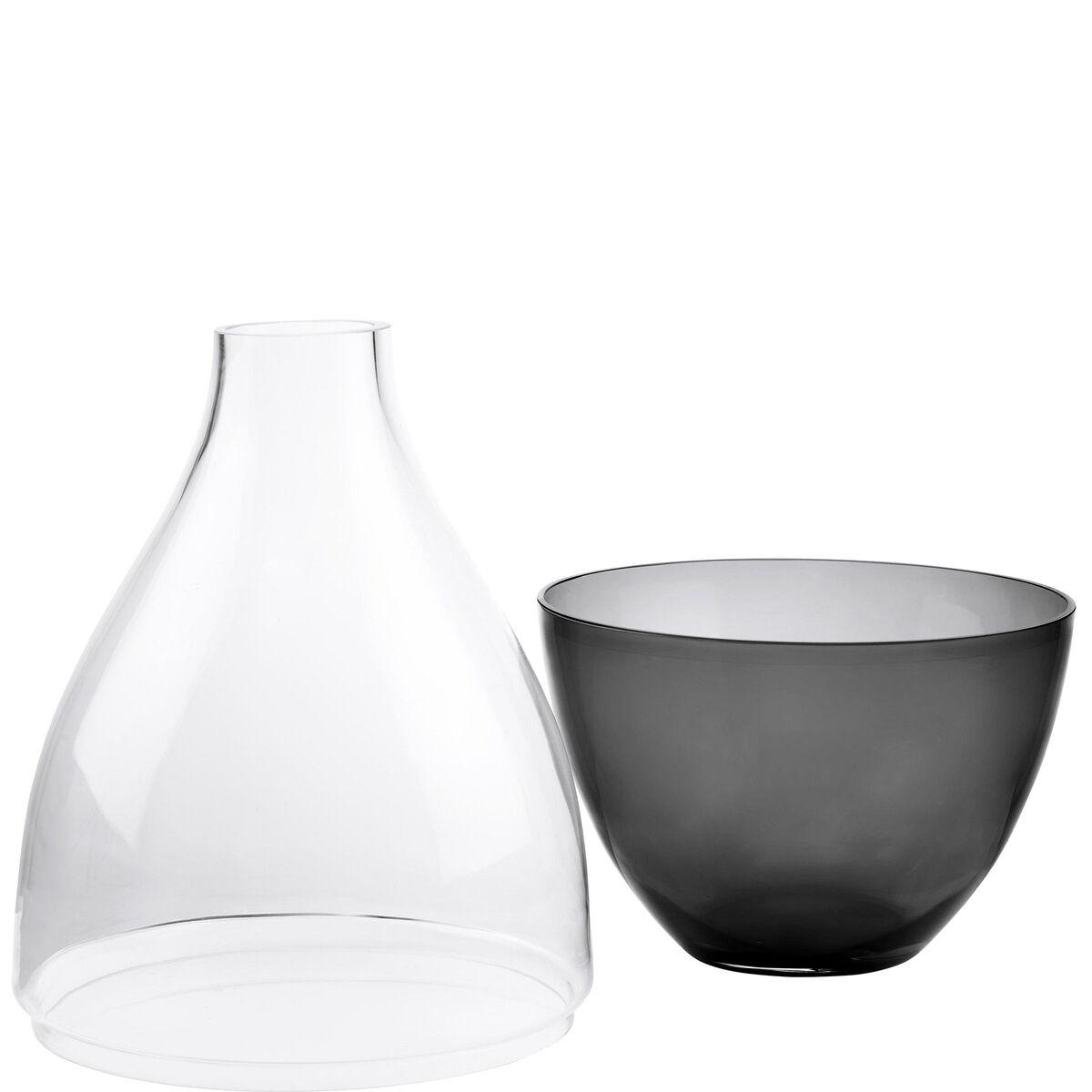AMALIA Bodenvase Glas 2-teilig L55cm