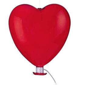 DREAMLAND Glas Ballon Herz 15cm rot