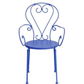 CENTURY Stuhl mit Armlehne blau (matt)