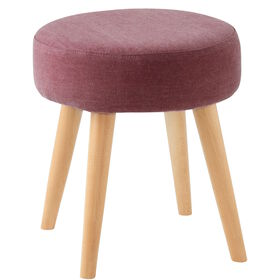 COZY TIME Hocker stone washed red