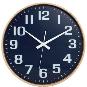 TIMBER TIME Wanduhr Ø 40cm blau