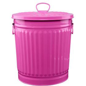 ZINC Zinkmülleimer  30 cm pink