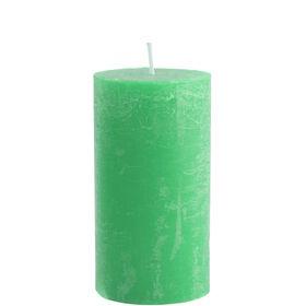 RUSTIC Kerze 6,8x13cm azurgrün