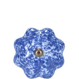 OPEN Möbelknopf Sprenkel blau