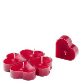 HEART Teelicht Herzen rot 5 Stück