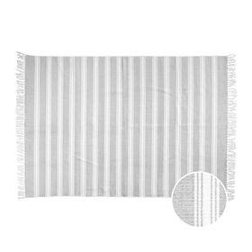 SILENT DANCER Teppich Streifen grau 120