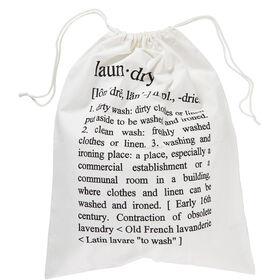 LAUNDRY Wäschesack Text 56x70 cm