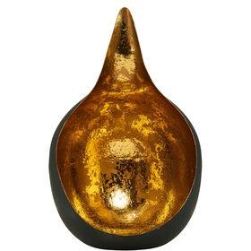 DELIGHT Teelichthalter schwar/gold Ø20cm