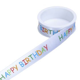 RIBBON Geschenkband Happy Birthday 25mm