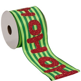 "RIBBON Geschenkband ""Hohoho"" 3m x 6,3cm"