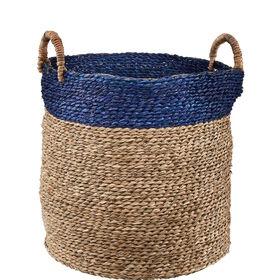 BASIC BRAID Korb natur/blau,40 cm