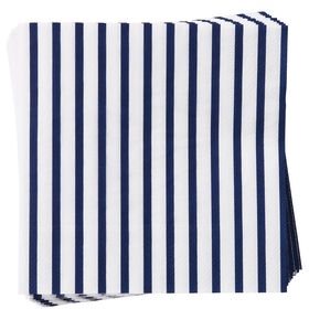 APRÈS Papierserviette Streifen blau