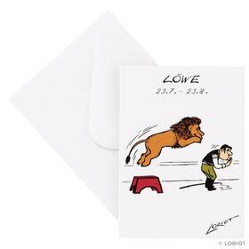 LORIOT Mini-Klappkarte Löwe mit Umschlag