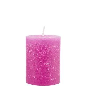 RUSTIC Kerze 6,8x9cm pink
