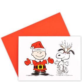 CARD Klappk.farb.m.Ums.:Charlie & Snoopy